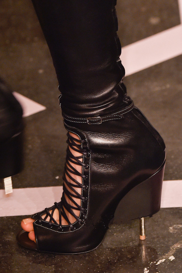 2015 Street style brand women lace up thigh high boots motorcycle long boots leather over the knee boots<br><br>Aliexpress