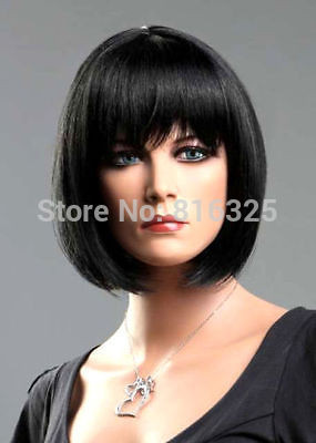 D&M32052 >Ladies Short Wig Blonde Black Brown Wig Bob straight Boycut Wedge Fashion Wigs(China (Mainland))