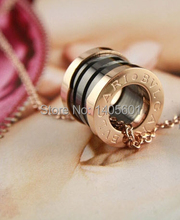 2015 Hot Sale Free Shipping Real Chokers Necklaces Geometric Women Classic Collar New Rose Gold Titanium Steel Ceramic Necklace(China (Mainland))