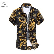 Summer Style Shirt Men Short Sleeve 6XL Plus Size Men's Shirt Camisa Marcas Beach Wear Man Clothing Floral Shirt For Male 2015