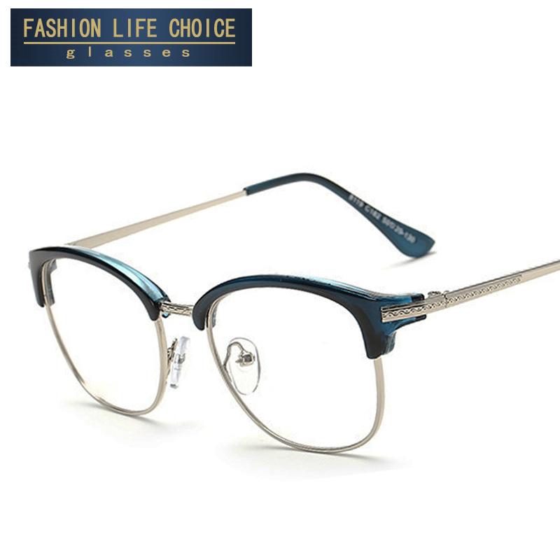 2016 Fashion Vintage Retro Style metal Frame Plain Glasses Men Women Eyeglasses Optical Glasses Frame Oculos Femininos Gafas(China (Mainland))