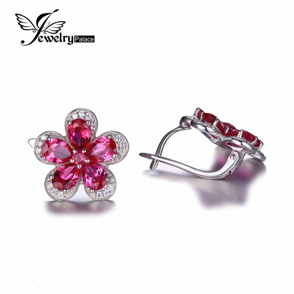 Buy new trendy ruby clip earrings Trendy womens gifts 2015