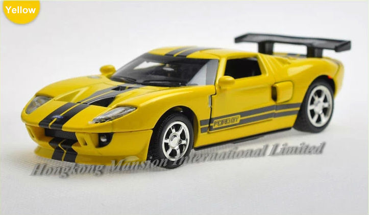 1:32 Scale Alloy Diecast Car Model For Ford GT Collection Model Pull Back Racing Car Toys With Sound&Light-Yellow/White/Red/Gray(China (Mainland))