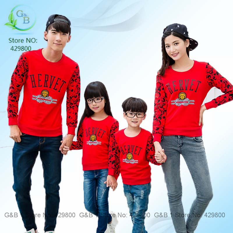 140 Best Fashionable 2015 Spring Shirts With Long Sleeve Boy Girl Children Shirt Cotton Red Navy Blue Print Funny Tshirt Top(China (Mainland))