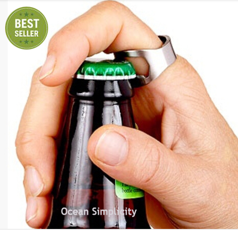 1PCs Stainless Steel Beer Bottle Opener ring / Beer Bar Tool /abridor de garrafa(China (Mainland))
