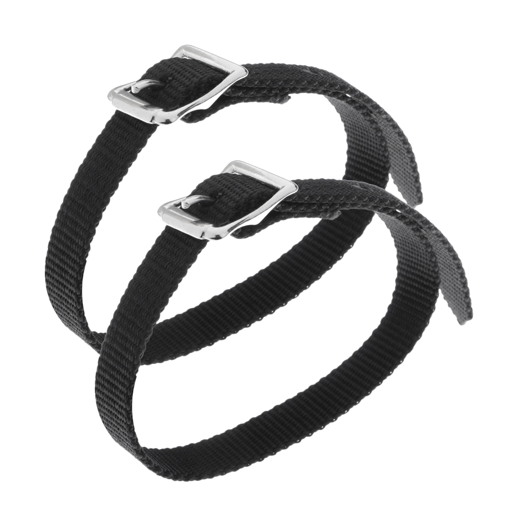 2 Pack Thickened PP Thickened Weaved Spur Straps Western for Men Women Ladies Youth Kids - Black Horse Rider Equipment