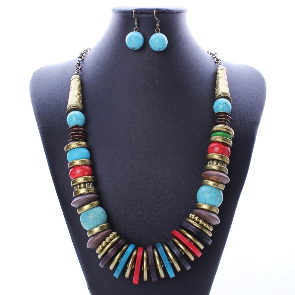 Fashion colourful fashion turquoise earrings necklace for Turquoise colored fashion jewelry
