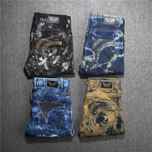 2016 new arrival hot mens designer jeans men robin jeans famous brand robin jeans denim with wings american flag jeans plus size
