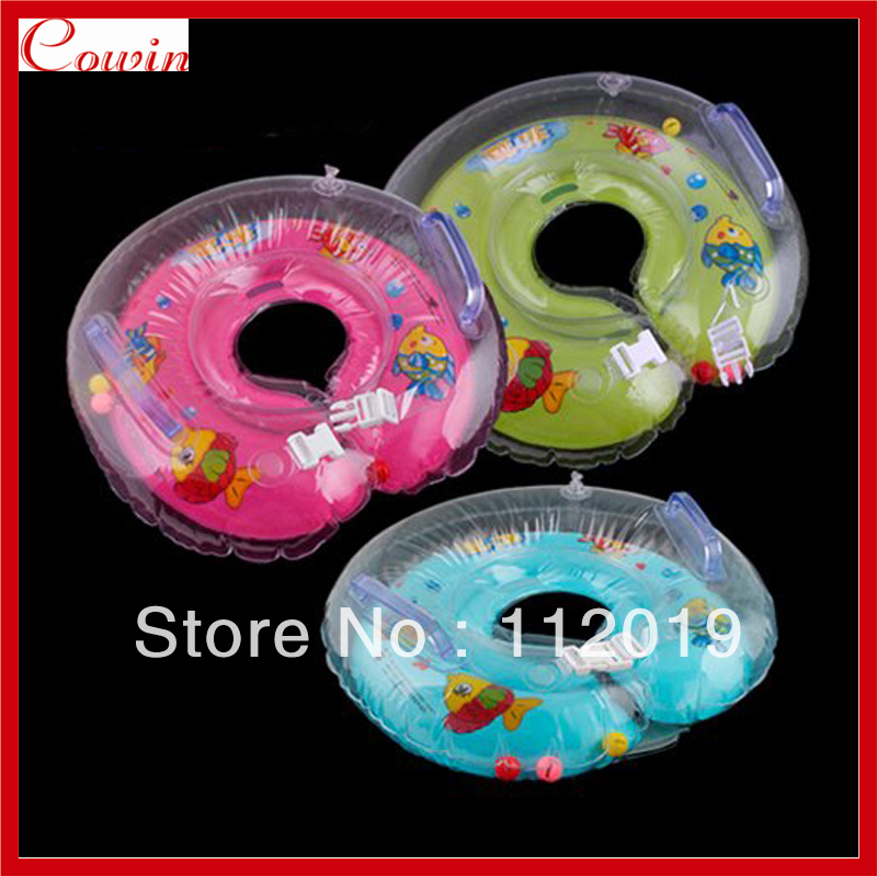 Free shipping 5Pcs/Lot New Baby Inflatable Kids Infant Adjustable Swimming Ring Neck Float Ring Safety(China (Mainland))