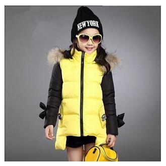 Fashion parkas font b girl b font font b clothing b font 2015 kid clothes winter
