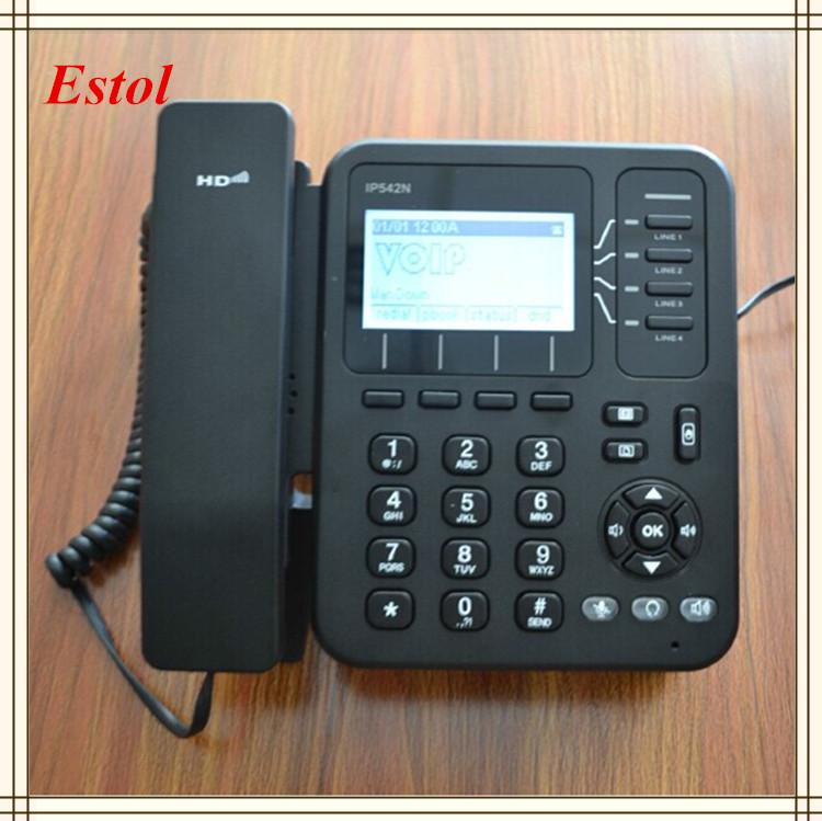 Wireless wifi cordless 4 line ip sip voip phone asterisk elastix compatible desktop telephone(China (Mainland))