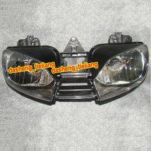 Motorcycle Front Headlight for Yamaha YZF R6 1999 2000 2001 2002, Motorbike Head lamp, Black Color(China (Mainland))