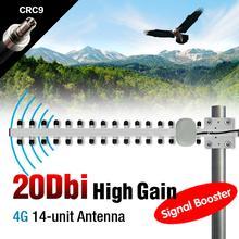 20dBi Yagi WLAN WiFi Wireless CRC9 Antenna Modem PCI Card Router High Gain 4G EL6157(China (Mainland))