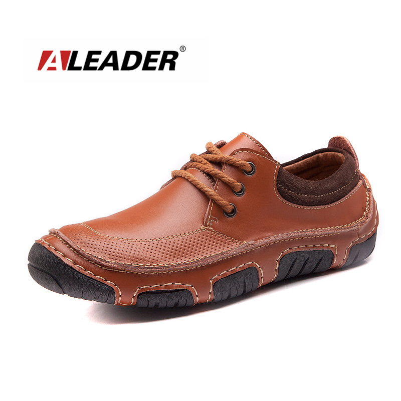 Hade Made Casual Men Leather Shoes New 2015 Spring Summer Flat Lace Up Loafers Shoes Oxfords Sneakers for Men Zapatos Hombre
