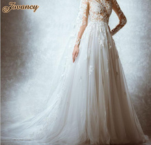 Zuhair Murad Generous See Through Lace High Neck Court Train Wedding Bridal Dresses With Long Sleeve