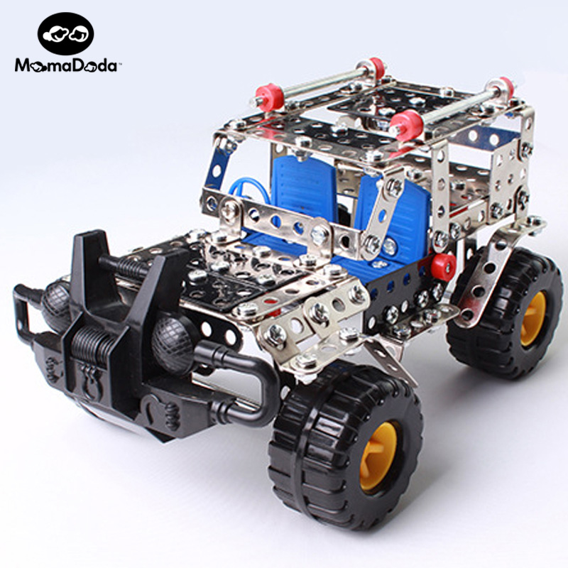 262pcs Plastic Model Kits Metal Model Puzzle Jeep Car Toy Baby Scale Models Kit 3D Building DIY Toy Kit Children Educational Toy(China (Mainland))