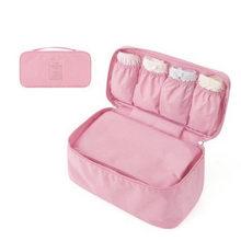 Women's Storage Bag Travel Necessity Accessories Underwear Clothes Bra Organizer Cosmetic Makeup Pouch Case zip lock plastic(China)