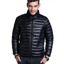 Men Winter Padded Jacekt Men's Brand thin Duck Down Coat Collar Casual Warm Outerwear Parka Jackets Plus Size XXXL Down Jacket