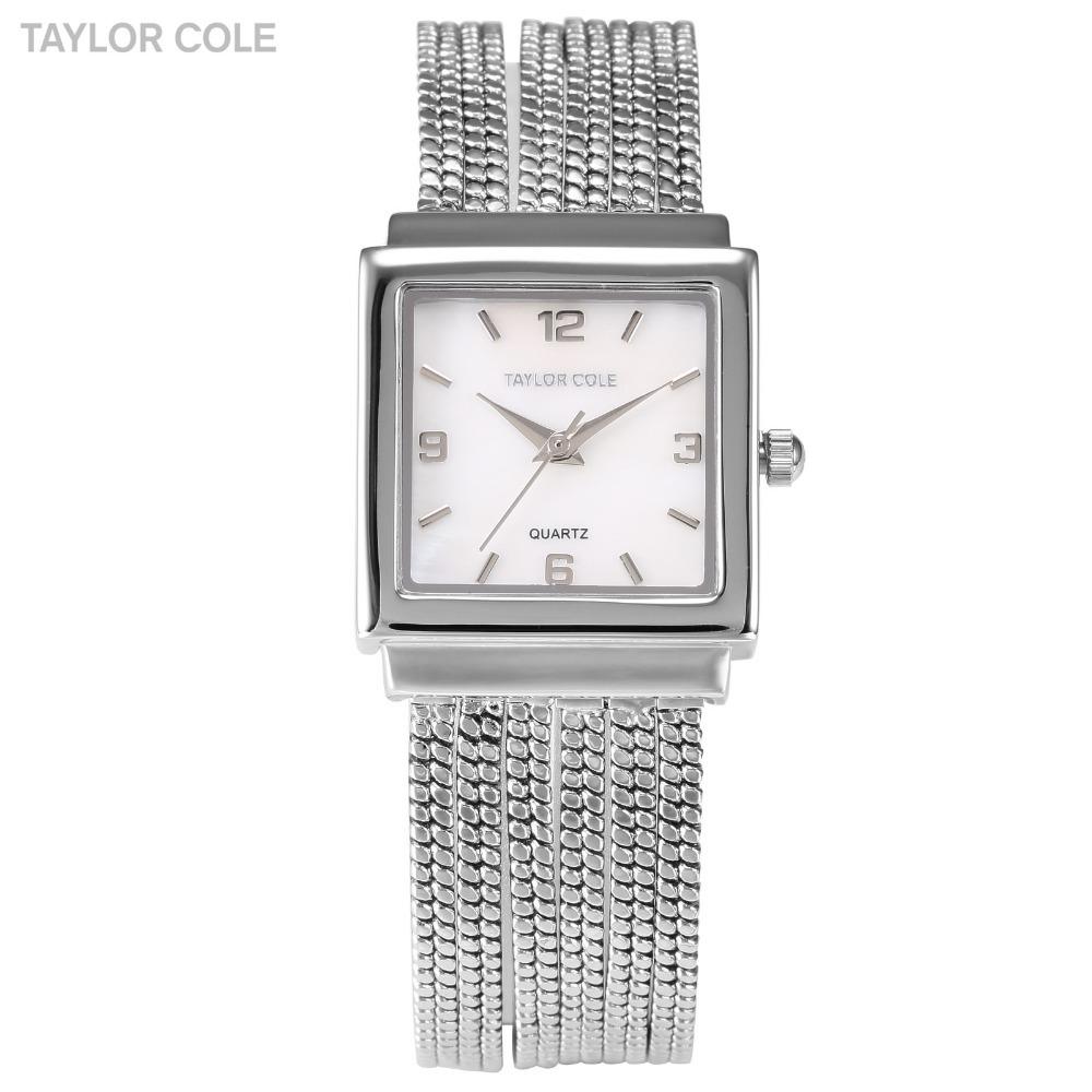 Luxury New Brand Female Silver Square Brass Case Relogio Quartz Analog Tassel Band Dress Clock Wrist Lady Bracelet Watch /TC045(China (Mainland))
