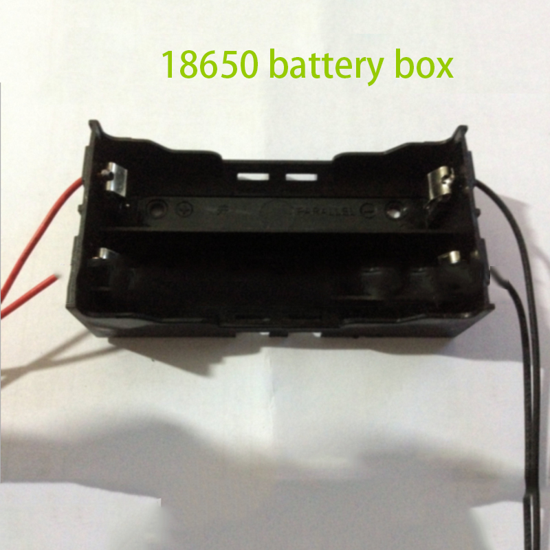 New 100pcs Black Plastic 3.7V 18650 Battery Holder Clip Holder Box Case Black With Wire Lead For 2pcs 18650Batteries Organizer<br><br>Aliexpress