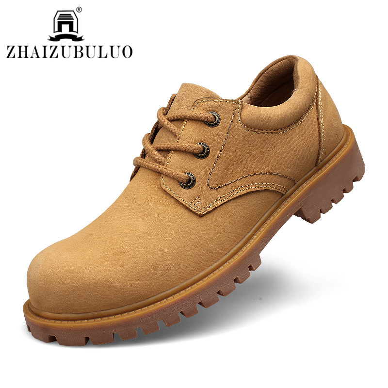 Фотография Unisex Oxford Shoes Men Women Genuine Leather Oxford Shoes Round Toe Martin Casual Shoes Flats Chaussure Homme Plus Size 48