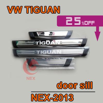 Volkswagen vw Tiguan Stainless Steel Scuff Plate door sill car accessories TIGUAN 4PCS/SET
