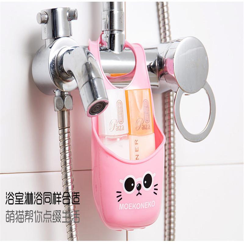 Cute Storage Basket Mini Rack Set Toilet Soap Shelf Organizer Kitchen Gadget Sink Storage Rack Pink Beige Brown Factory Price(China (Mainland))