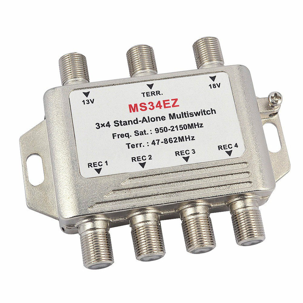 3 In 4 Out Satellite DiSEqC Stand-Alone Multiswitch Splitter 3x4 Satellite Switch FTA TV LNB Switch For Smatv DVB-S2 DVB-T2(China (Mainland))