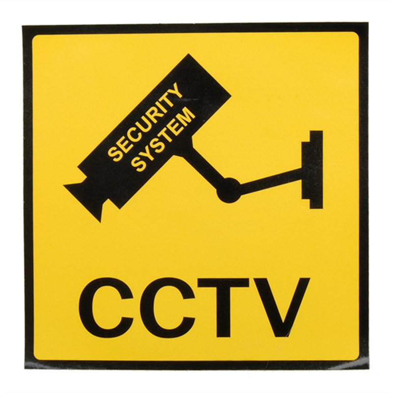 12 x 12cm Monitoring Security Cameras CCTV Warning Sign Home Safely Security New Arrival High Quality<br><br>Aliexpress