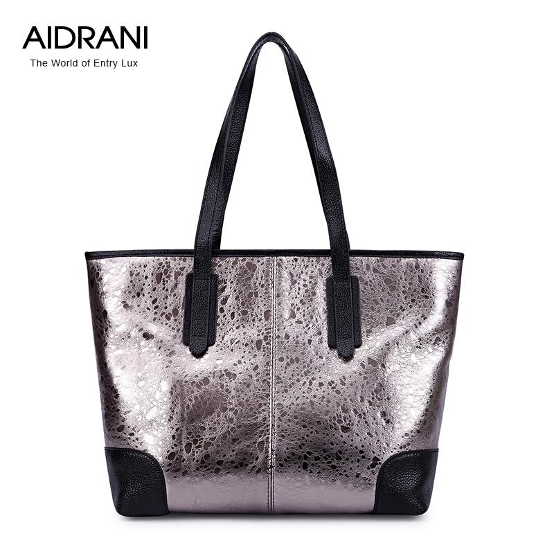 High Quality Genuine Leather Women Bag Aidrani Brand Handbag Cowhide Women Totes Fashion Simple Women Shoulder Bags<br><br>Aliexpress