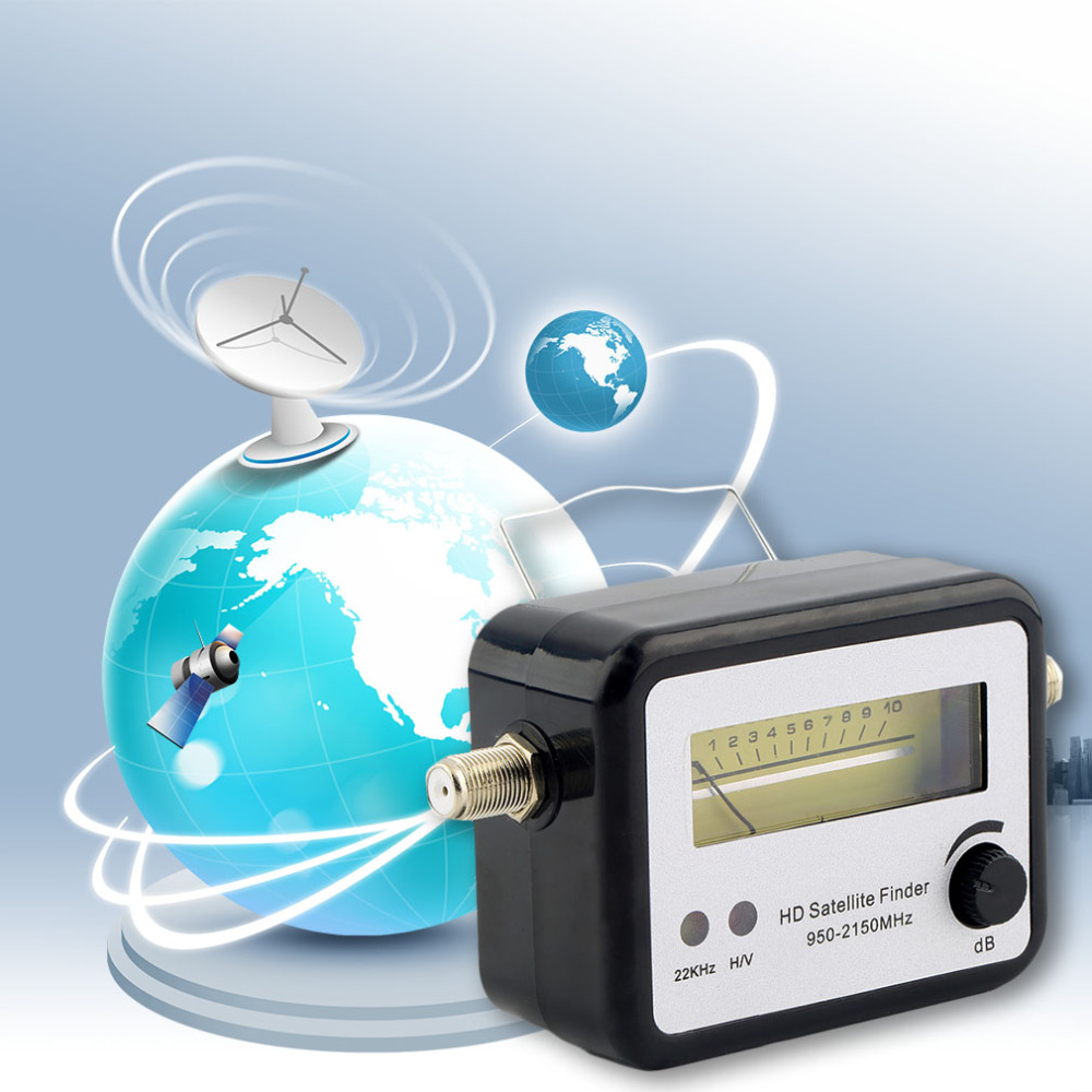1pcs Digital Satellite Signal Finder Meter Compass FTA TV Signal Receiver & Finder Hot Worldwide(China (Mainland))