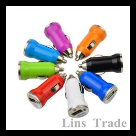 Free shipping New 10PCS/Lot mini usb car charger adapter for iphone4 4s 5 ipad 1 2 mobile phone mp3 mp4 #8089