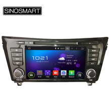 SINOSMART 1.6GHz Quad Core 8 Inch Android 5.1 Car DVD GPS Player for Nissan Qashqai/X-Trail 2013-2015 Canbus Optional(Hong Kong)