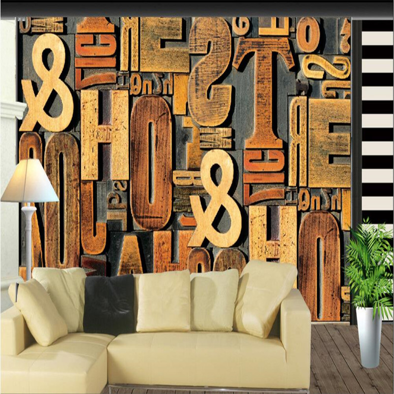 Custom wallpaper designs promotion shop for promotional for Living room 6 letters