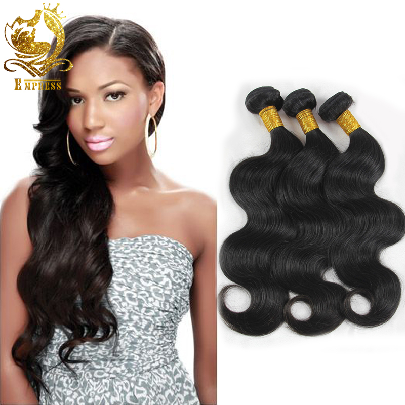 Virgin Indian Hair Extension 3Pcs Lot Bundles 100% Unprocessed Human Hair Weave Natural Black Indian Virgin Hair Body Wave<br><br>Aliexpress