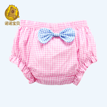 2016 Newborn Baby  PP Shorts Baby Girls Cotton Ruffle Bowknot Infant Girl Summer Cute Shorts Free Shipping(China (Mainland))