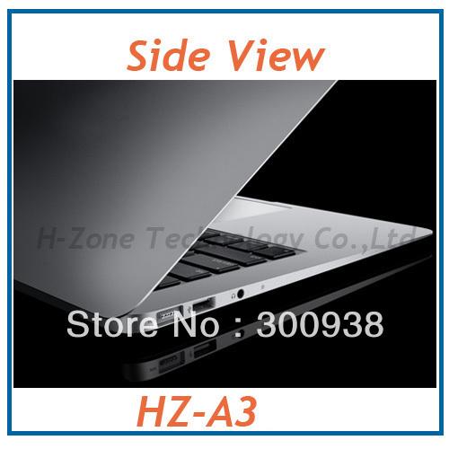 Free Shipping 14.1'' ultra thin laptop with Intel Atom D2500 1.86Ghz dual core WIFI HDMI 4GB DDR3 RAM 500GB HDD(Hong Kong)