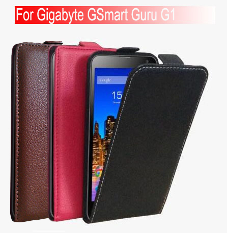 ( Factory Outlet ) High Quality Fashion Luxury Flip Leather Case Cover For Gigabyte GSmart Guru G1 mobile phone + Free shipping(China (Mainland))