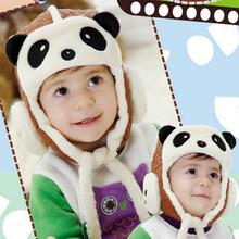 Зима Малыш Baby Panda Авиатор Hat Бомбардировщик Cap Детей Маски Теплой Все Для Детей Clothing And Accessories(China (Mainland))