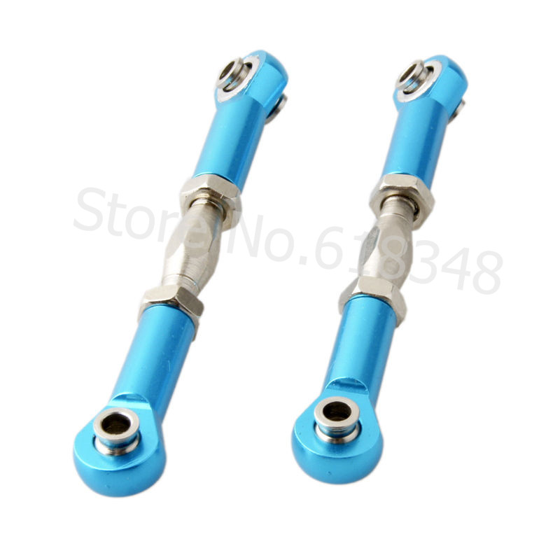 2pcs/lot RC HSP 166017 Aluminum Steering Linkage 06016 Upgrade Parts For 1/10 Off Road Buggy BackWash 94166