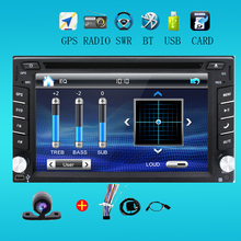 100% New universal Car Radio Double 2 din Car DVD Player GPS Navigation In dash Car PC Stereo Head Unit video+Free Map+Free Cam!