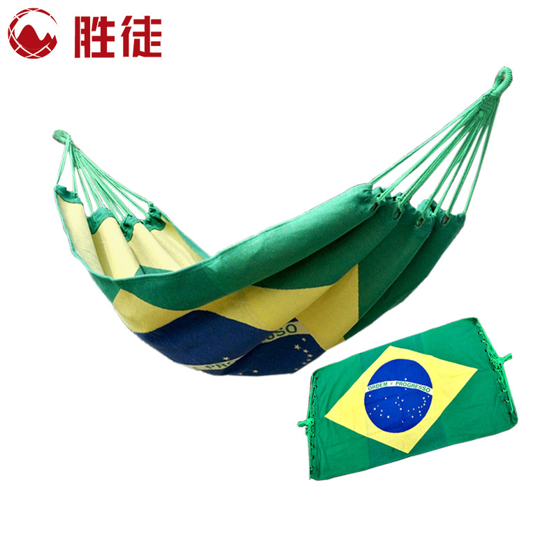 Acts flag wins thicker version jacquard canvas hammock outdoor camping inside the dormitory bedroom swing buy 1 get 3(China (Mainland))