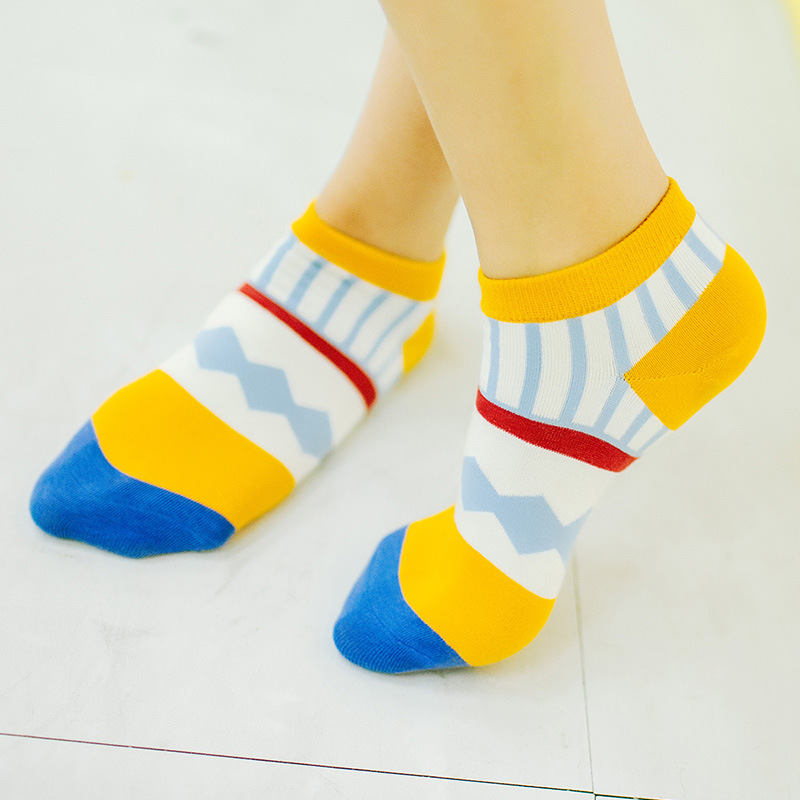 New Summer Cute Patch Korean Socks for Woman Ankle Colorful calcetines High Quality Fashion sock Slippers A103(China (Mainland))