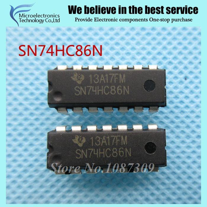 50pcs free shipping 74HC86N SN74HC86N 74HC86 SN74HC86 DIP-14 Logic Gates QUAD 2-INPUT EXCLUSIVE-OR GATE new original(China (Mainland))