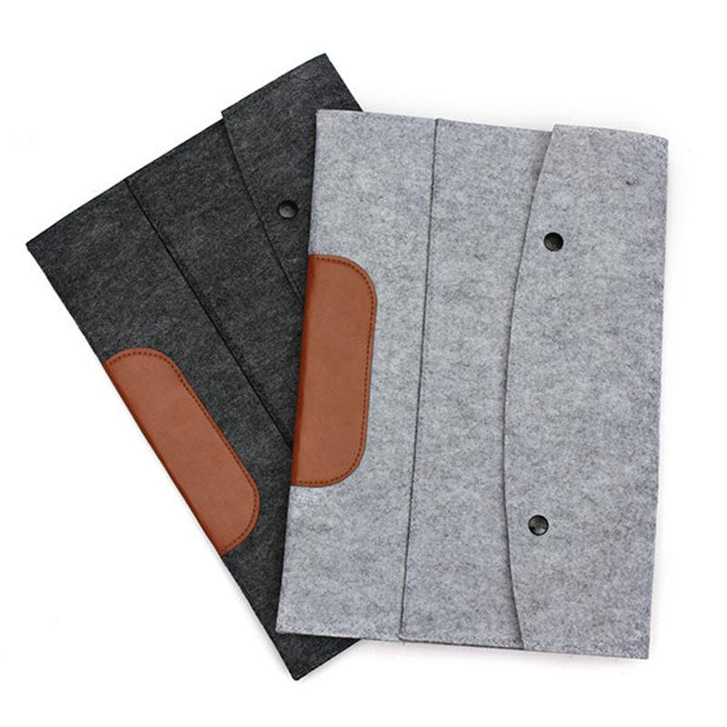 Wholesale Envelope Laptop Sleeve Soft Woolen Felt Protective Case Cover Bag Pouch For Macbook Air Pro Retina 11.6 13.3 15.4''(China (Mainland))