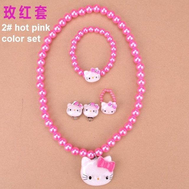 Freeshipping! Cute Cat series New Kids Necklace+rings+Bracelet+ earrings Set/Jewelry Accessories Set / Fashion / Wholesale