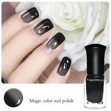 1 Bottle 6ml Thermal Nail Polish Color Changing Polish Peel Off Polish Black to Grey # 23799(China (Mainland))