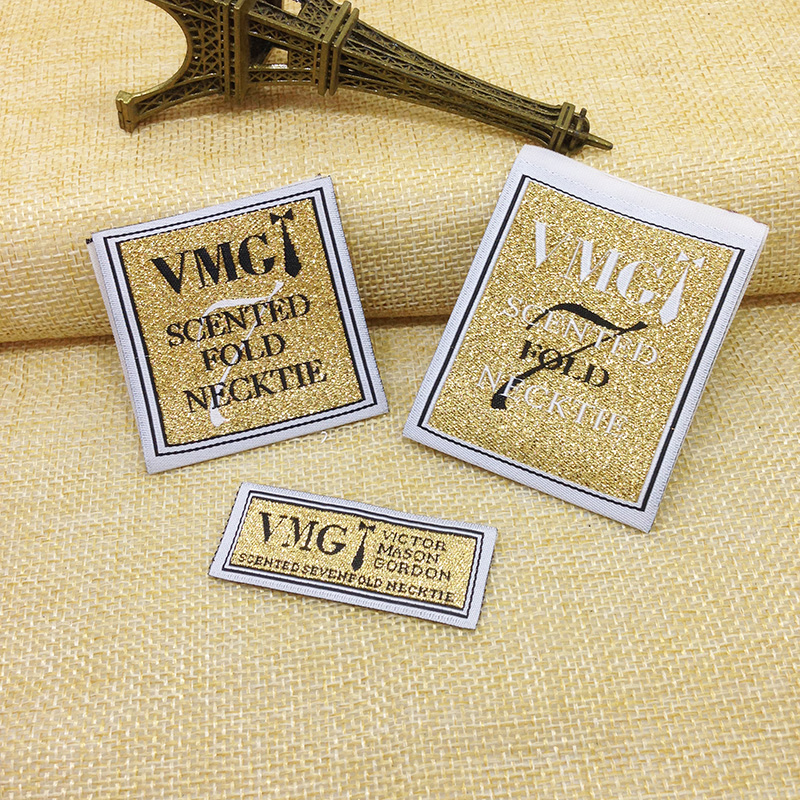 Free Shipping ,woven label, garment woven, custom free, shirt main label ,back neck label ,garment embroidery(China (Mainland))