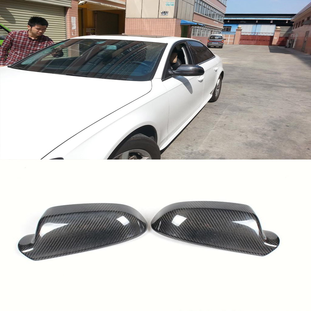 Фотография 2013UP A4 B9 Carbon Fiber  rear Review Mirror Cover ,Car Side Mirror Caps For Audi (Fits 2013up A4 B9 )
