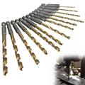 13pcs set HSS High Speed Steel Twist Drill Bit for Metal Titanium Coated Drill 1 4
